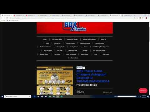 Friendly Box Breaks >> Friendly 3 Spot Bonus 2019 Tristar Game Changers Autograph Baseball Part 1 Id 19gamechanger513