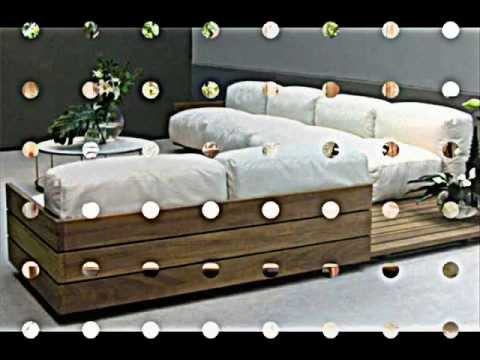 euro paletten m bel sofa mit integrierten regalen youtube. Black Bedroom Furniture Sets. Home Design Ideas