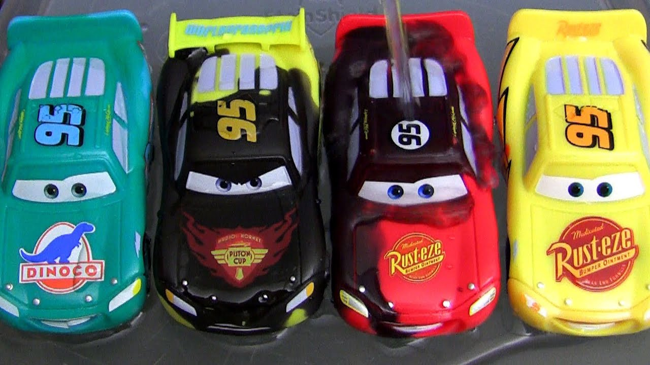 Coloring cars 2 online - 5 Color Changers Cars 2 Raoul Caroule Rusteze Mcqueen Dinoco Bob Cutlass Colour Water Toys Youtube