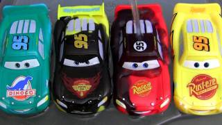 5 Color Changers Cars 2 Raoul Caroule Rusteze Mcqueen Dinoco Bob Cutlass colour water toys