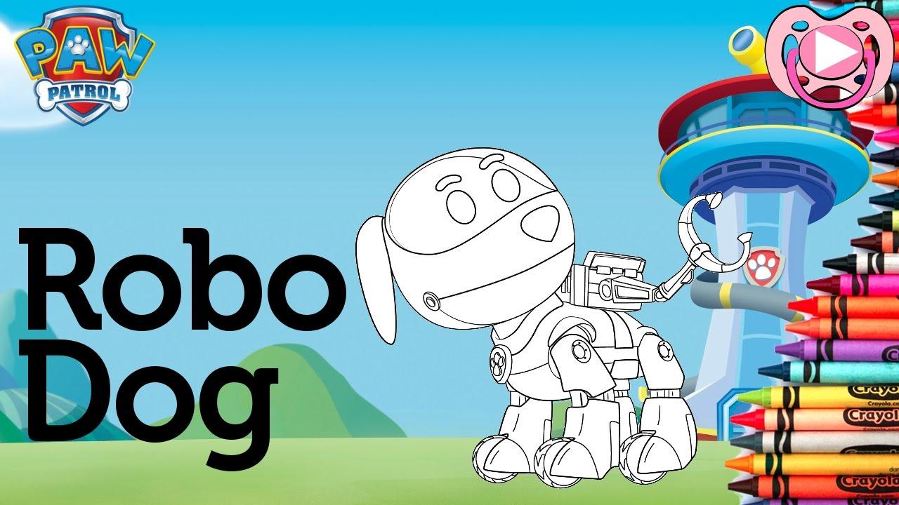 Paw Patrol Colorir O Robo Dog Youtube