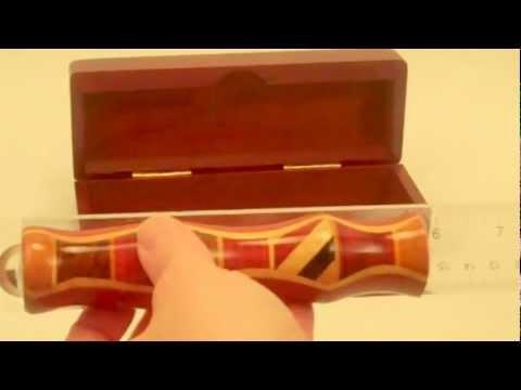 Teleidoscope with Wood Presentation Box By N & J Enterprises In Padauk 5.5 Inches Long.