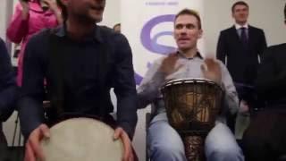 видео Тимбилдинг с барабанами