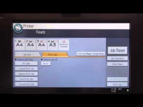 Training   Print - Locked Print (secure printing) on Ricoh Printer   Ricoh Wiki