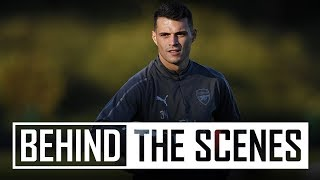 Practising that XHAKA BOOM in training | Behind the scenes