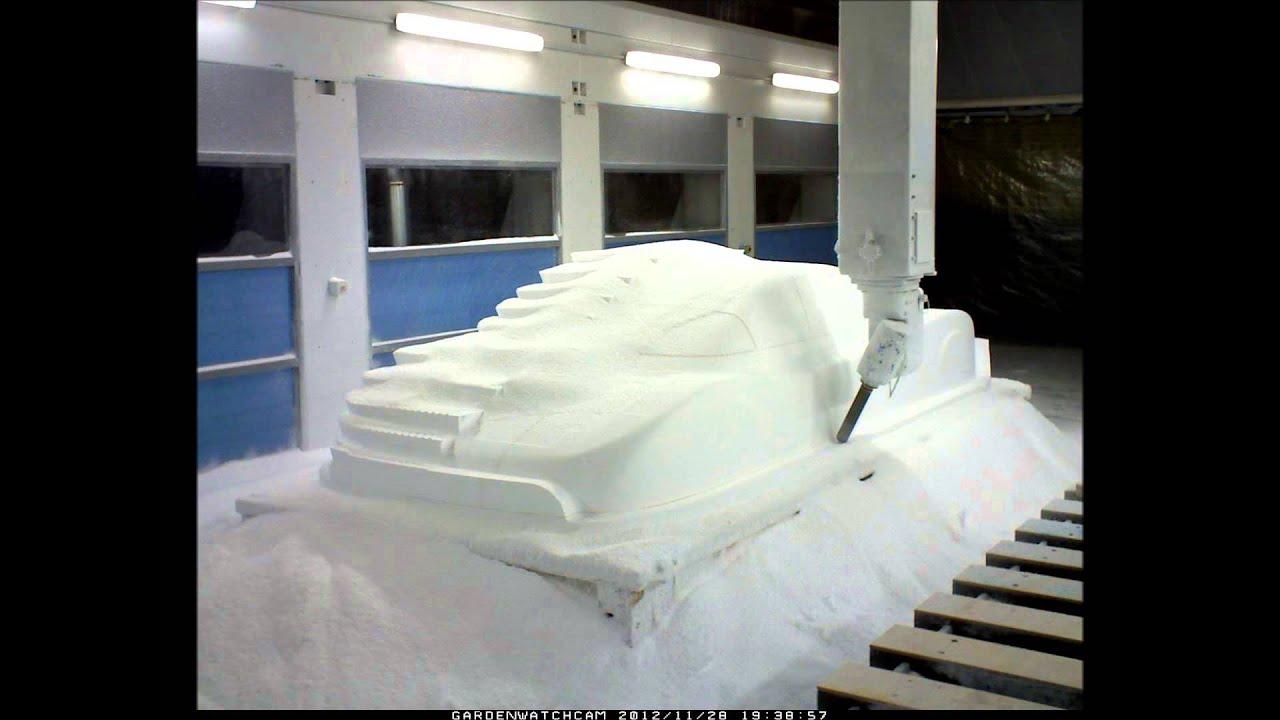 Cnc Polystyrene Car Youtube
