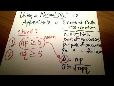 Stats: Approximating a Binomial Prob Distribution using a Normal Distrib (Part 1)