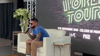 maluma habla de su prximo lanzamiento #1111 desde su conferencia de prensa en El Choli de #PuertoR