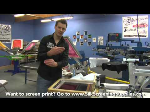 How to Screen Print - Basic Black - Detailed instruction - Screen Printing 101 DVD pt 25