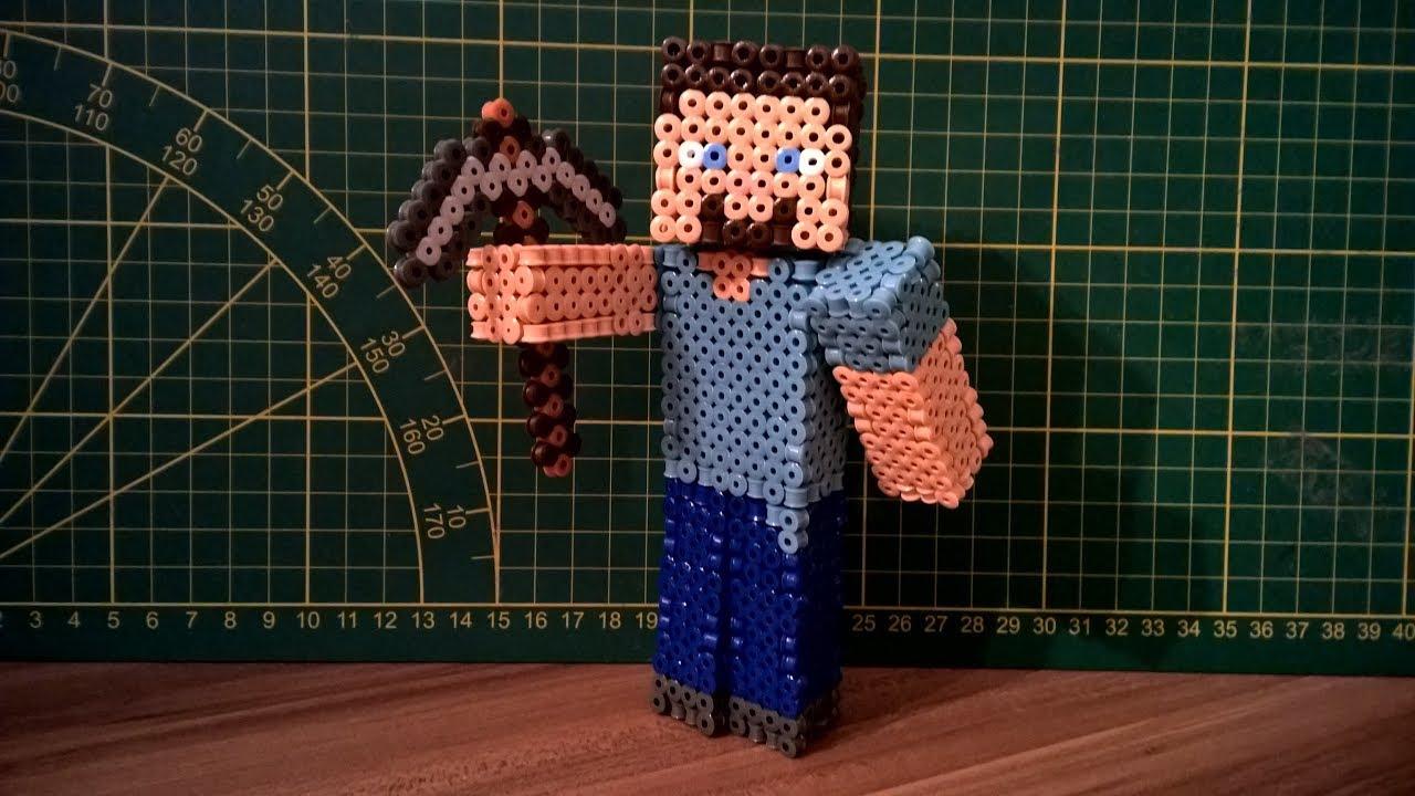 3d Perler Bead Minecraft Steve Tutorial