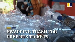Swapping trash for free bus tickets