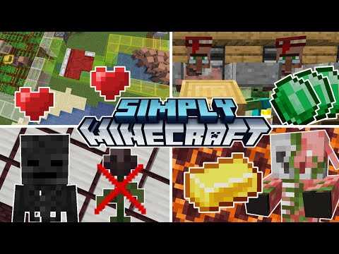 11 Easy Farms for Minecraft 1.17 | Simply Minecraft Tutorial Recap (Java Edition)