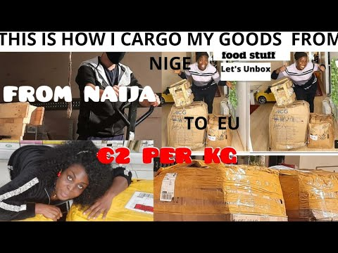 CARGO 100KG  FOR FOR ONLY $100|  FROM  NIGERIA TO UK!🇺🇸! EU.  THIS IS HOW I CARGO  MY GOODS