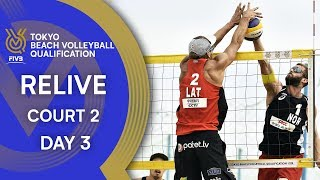 Day 2 - Court 3 | FIVB Tokyo Beach Volleyball Qualification 2019 | RE-LIVE