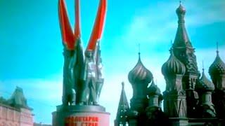 Москва, 1935, Парад войск и демонстрация, Красная пл. кинохроника, цвет, СССР