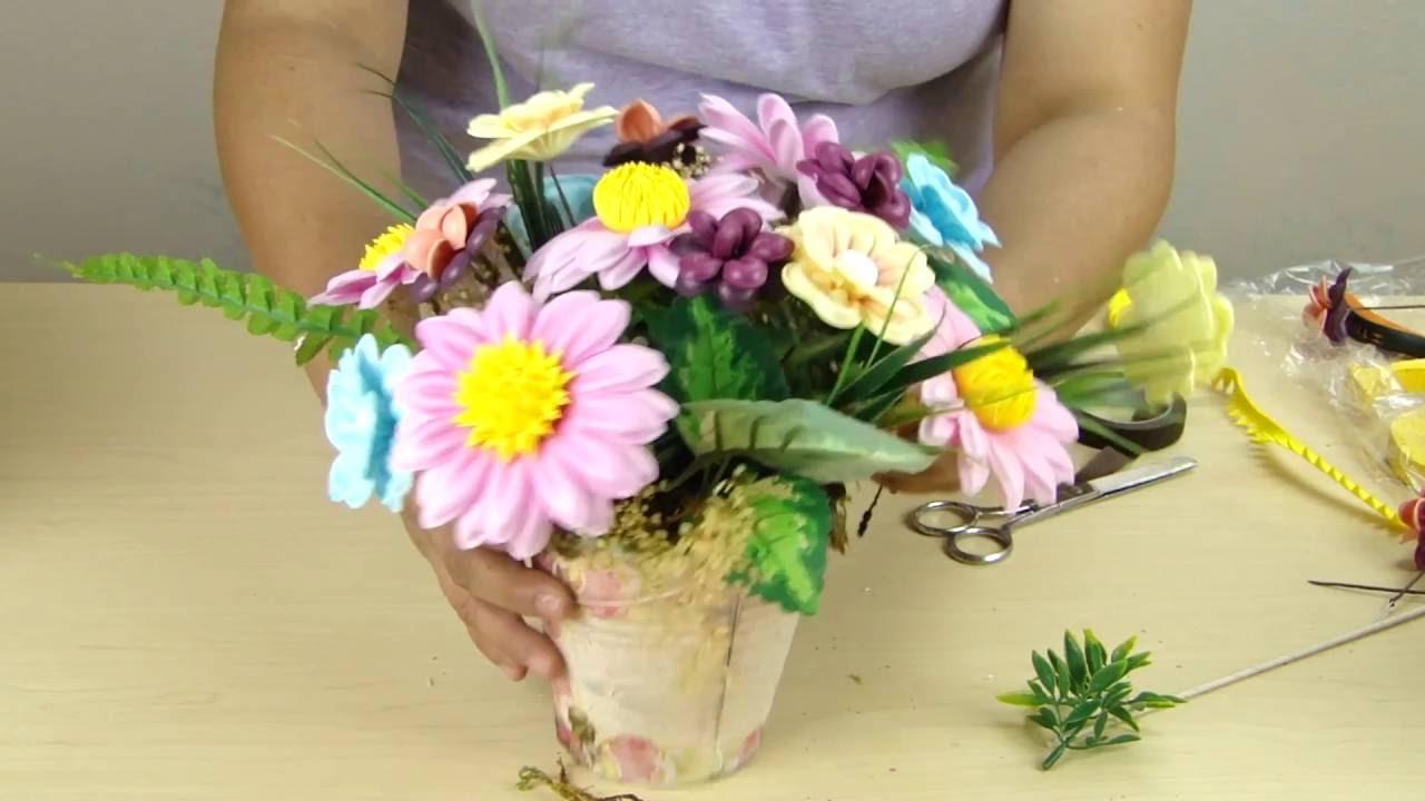 TUTO: Cuadro de Flores Girasoles Alcatraces Decoración Foamy by  MoldesyManualidades