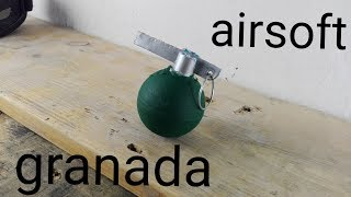 como hacer una granada de airsoft casera [how to make a homemade airsoft grenade]