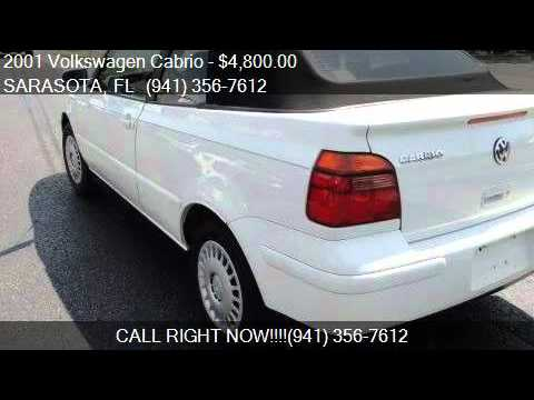 2001 Volkswagen Cabrio GLS for sale in SARASOTA, FL 34233 at