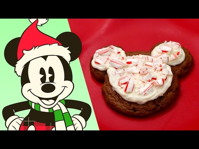 mickey mouse peppermint cookies recipe - Mickey Mouse Christmas Cookies