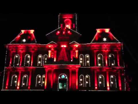 Cambridge Courthouse Light Show