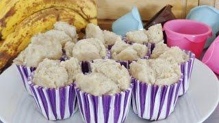 Steamed Banana Muffins - Fat-free - Vegan - 3 Ingredients