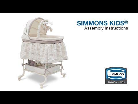 Simmons Kids® Slumber Time Gliding Bassinet Assembly Video
