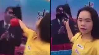 (有影片) 女網友直播潑墨習近平 在海航大廈喊反共後消失