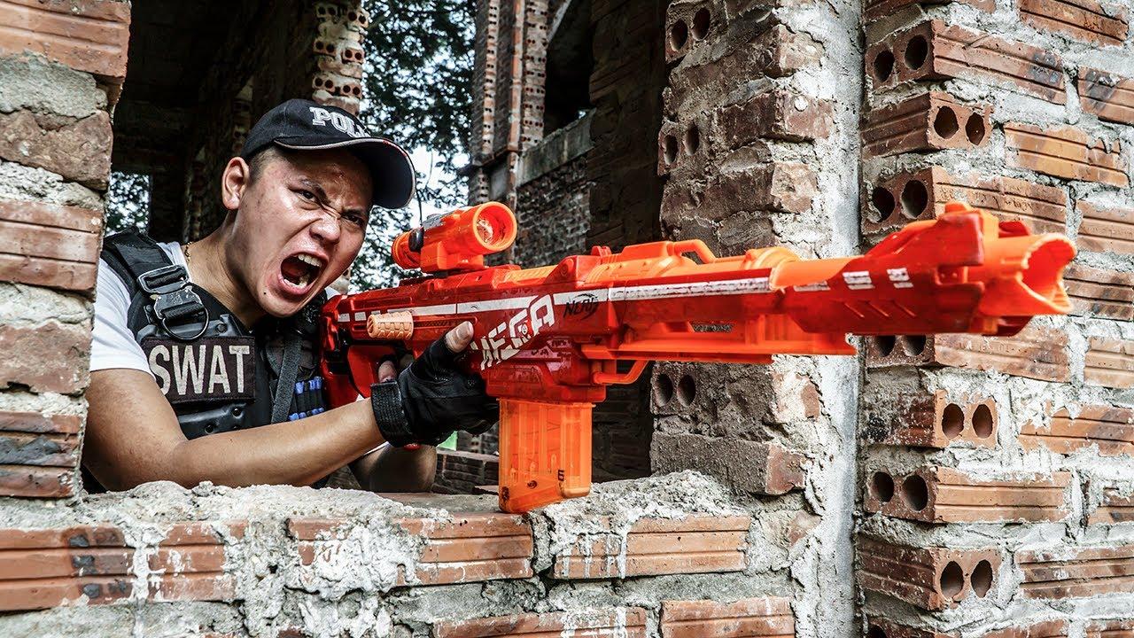 LTT Game Nerf War : Warriors SEAL X Nerf Guns Fight Rocket Crazy Battlefield PALLET