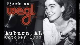 Björk On WEGL 91.1 FM - Auburn University, Alabama, USA, (xx-10-1988)