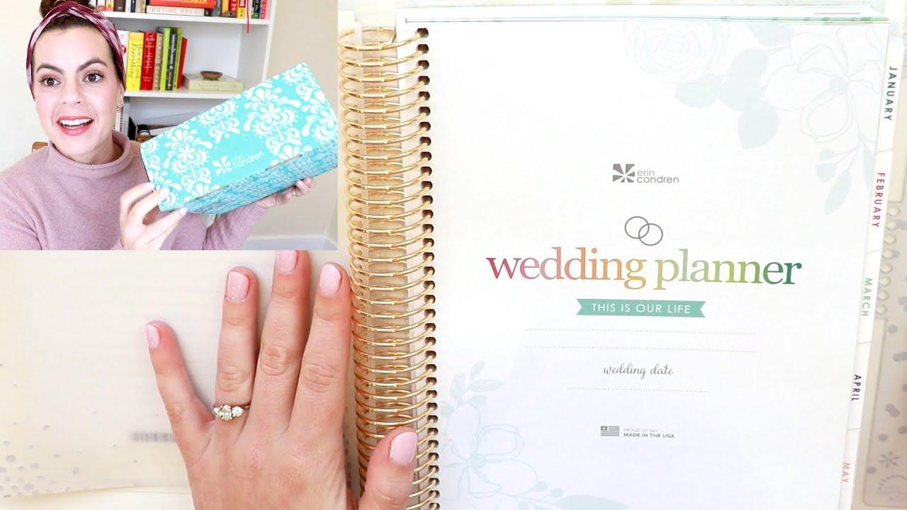 Erin Condren Wedding Planner.Erin Condren Wedding Planner Haul First Impressions Flip Through