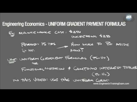 Uniform Gradient Payment Formulas - Fundamentals of Engineering Economics (Part 1)