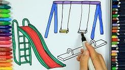 Wie zeichnet man Kinderpark 🏞 | Ausmalen Kinder HD | Malen für Kinder | Zeichnen und Färben