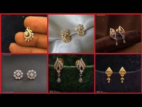 Most Charming Different styles of Casual Light Weight Gold earrings, tops, stud