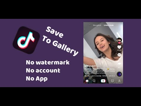 how to save tiktok video without watermark and account tiktok app