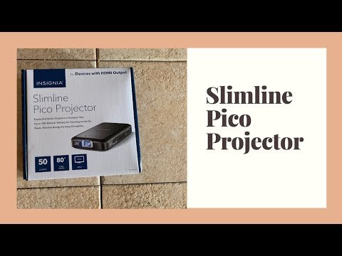 Slimline Pico Projector -Outside Movie Night Review
