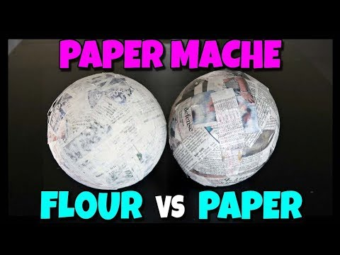 How To Paper Mache - FLOUR VS GLUE 📍 How To With Kristin