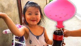 THỔI BONG BÓNG BẰNG COCA VÀ BAKING SODA- HOA CHANH TV- BLOW BALOON BY COCA AND BAKING SODA