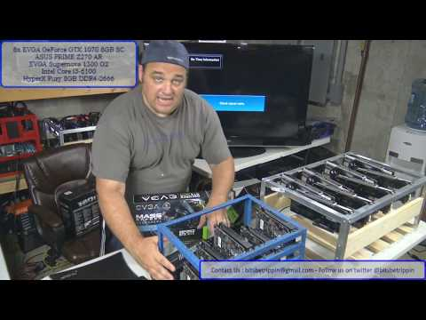 Live Episode 22 - 8x GTX 1070 SC Ethereum Mining Rig Build