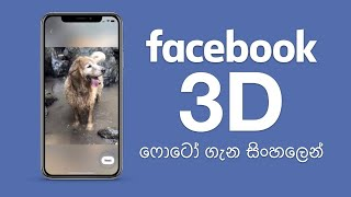 Facebook 3D Photos - How to Capture & How to Upload - Sinhala Review