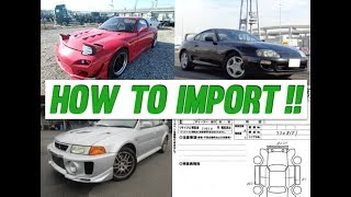 How To Import a Car From Japan! (EXPLAINED)<