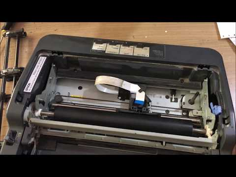 Dot matrix Printhead cleaning. Epson LX 350 cleaning printer and test.