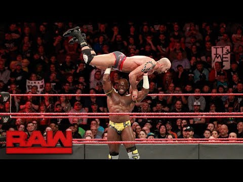 Cesaro & Sheamus vs. Titus Worldwide - Raw Tag Team Championship Match: Raw, Jan. 29, 2018