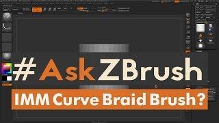 """#AskZBrush: """"How can I create an IMM Curve Braid Brush?"""""""