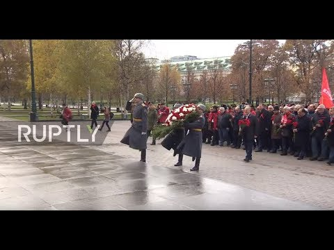 Russia: Cuban Communist Party member marks 100th anniv. of Russian Revolution