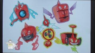 Drawing Pokemon: No. 479 Rotom ロトム
