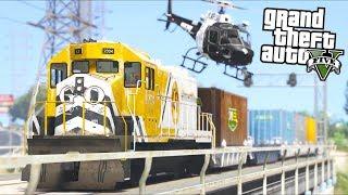 GTA 5 - Evade Ep24 - Hijacking a Train!!