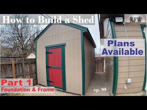 99 - How to build a Shed DIY Back Yard Storage part 1 Foundation and Floor