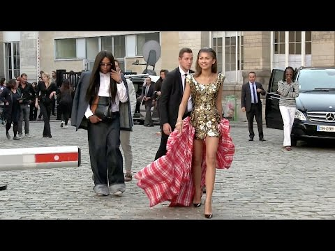 THE GREAT ZENDAYA at the Vivienne Westwood Show in Paris