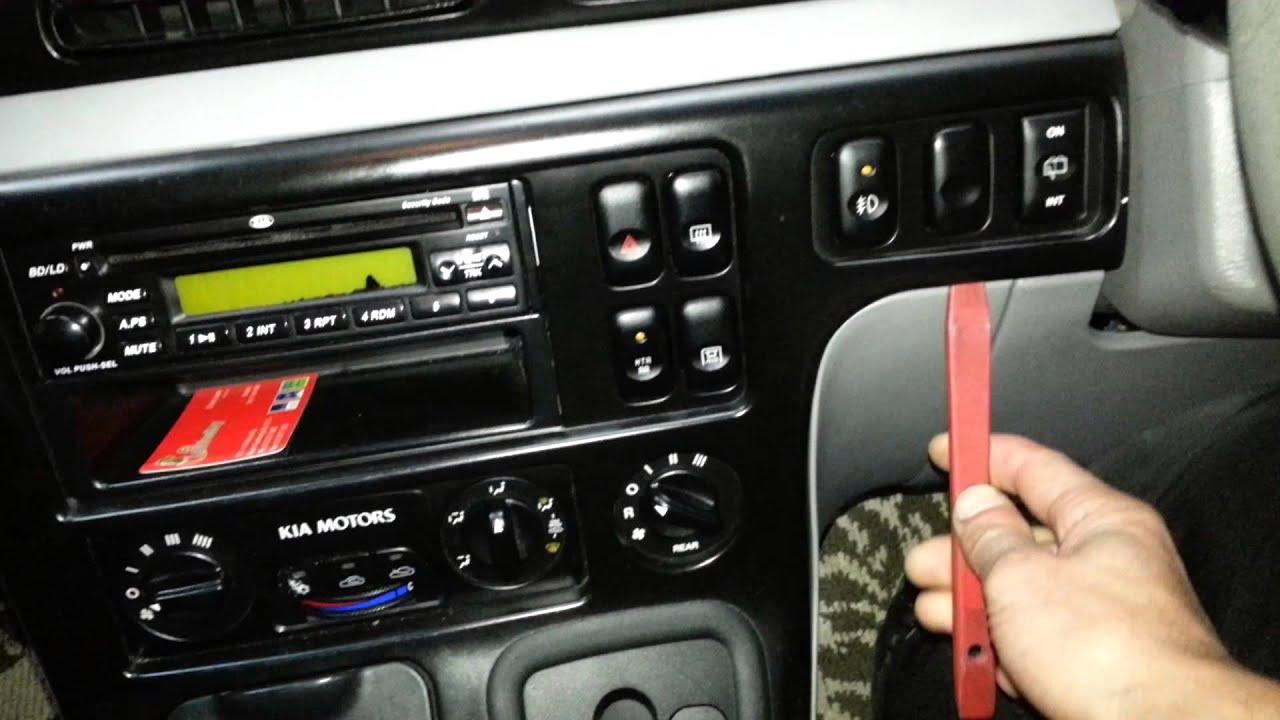 How To Remove A Kia Carnival Radio Youtube 2005 Sportage Dash Removal