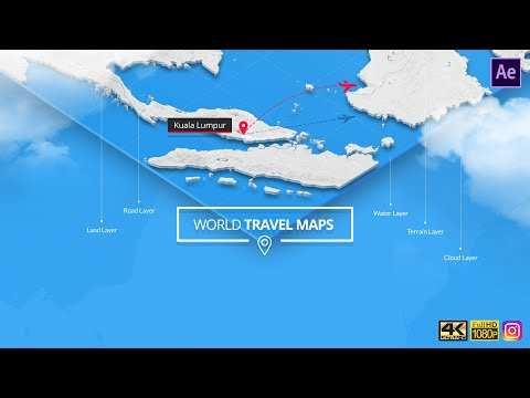 World Travel Maps - After Effects Template